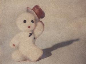Snowman Walking by Jennifer Kennard by Jennifer Kennard