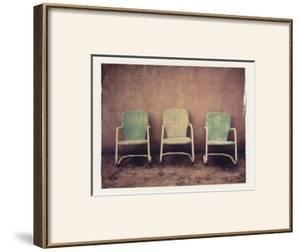 Three Turquoise Chairs by Jennifer Kennard