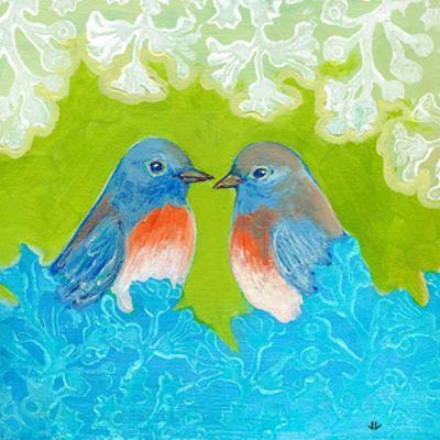 Bluebirds in Love by Jennifer Lommers