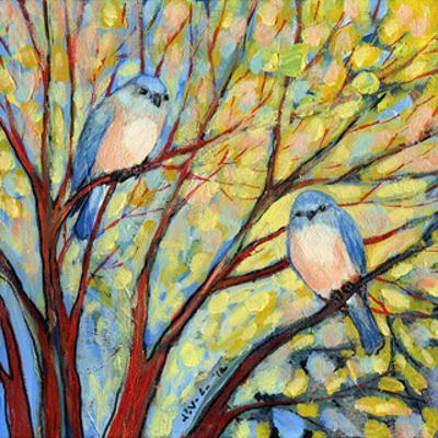 Two Bluebirds by Jennifer Lommers