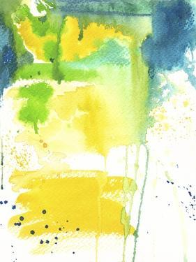 The Quiet Fight - Watercolor Abstract by Jennifer McCully