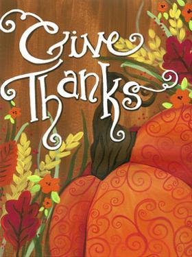 Give Thanks Swirl Pumpkin by Jennifer Nilsson
