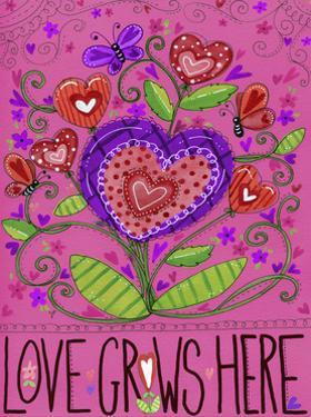 Love Grows Heart Flowers by Jennifer Nilsson
