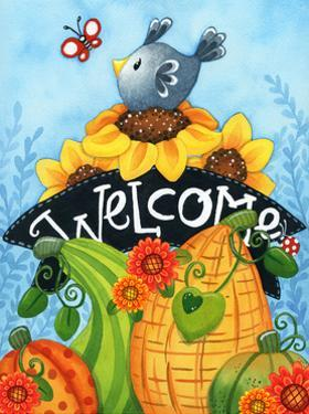 Sunflower Bird Welcome by Jennifer Nilsson