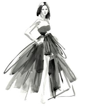 Gestural Evening Gown I by Jennifer Parker