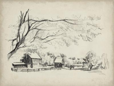 Sketched Barn View I