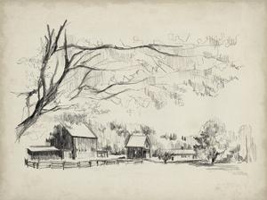 Sketched Barn View I by Jennifer Parker