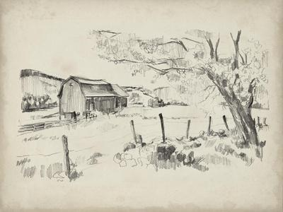 Sketched Barn View II