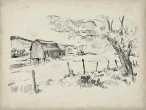Sketched Barn View II by Jennifer Parker