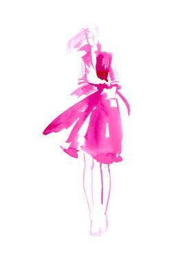 Fuchsia Street Fashion I by Jennifer Paxton Parker