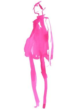 Fuchsia Street Fashion II by Jennifer Paxton Parker