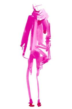 Fuchsia Street Fashion III by Jennifer Paxton Parker