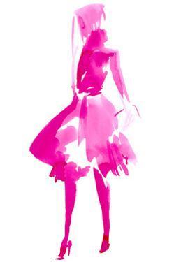 Fuchsia Street Fashion IV by Jennifer Paxton Parker