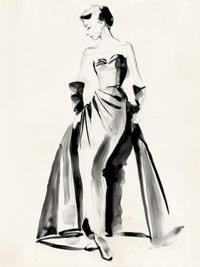 Vintage Costume Sketch I by Jennifer Paxton Parker