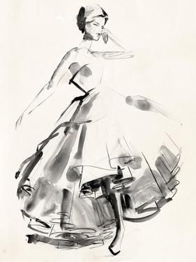 Vintage Costume Sketch II by Jennifer Paxton Parker