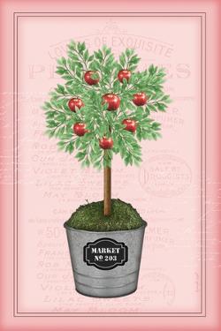 Apple Topiary - Pink by Jennifer Pugh