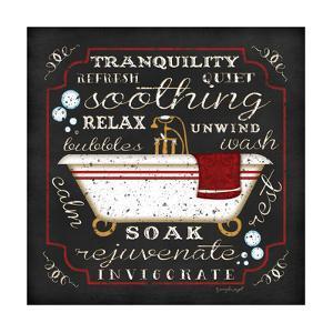 Bath I - Black/Red by Jennifer Pugh