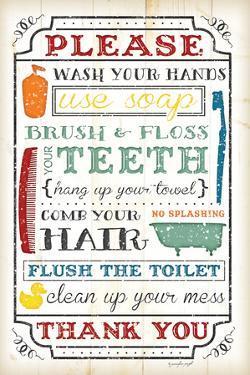 Bathroom Rules by Jennifer Pugh