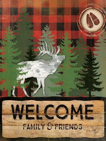 Cabin Welcome Plaid I by Jennifer Pugh