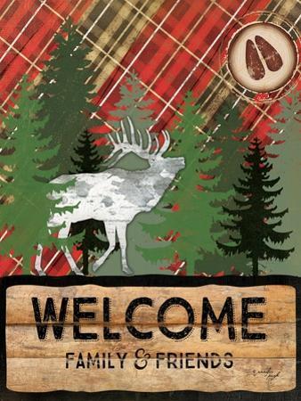 Cabin Welcome Plaid II by Jennifer Pugh