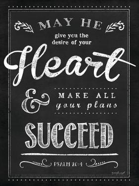 Chalkboard Psalm 20:4 by Jennifer Pugh