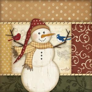 Country Snowman II by Jennifer Pugh
