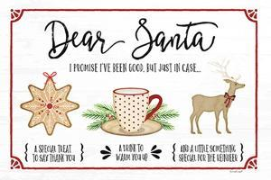 Dear Santa - White by Jennifer Pugh