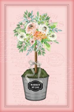 Floral Topiary II - Pink by Jennifer Pugh