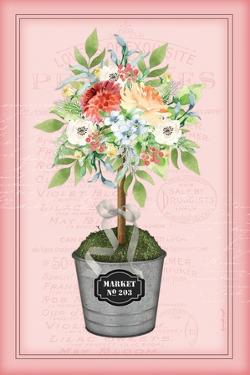Floral Topiary - Pink by Jennifer Pugh