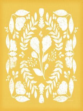 Folk Floral in Yellow by Jennifer Pugh
