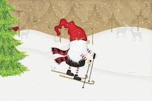 Gnome Skier by Jennifer Pugh