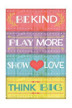 Kind Play Love Think by Jennifer Pugh