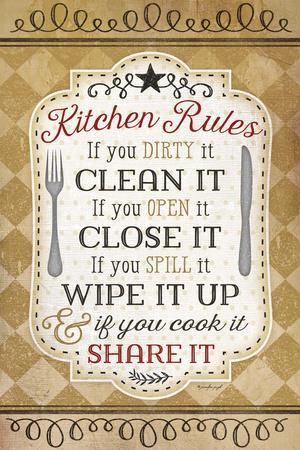 Kitchen Rules By Jennifer Pugh