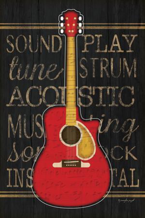 Music Guitar by Jennifer Pugh