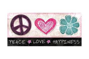 Peace Love Happiness by Jennifer Pugh
