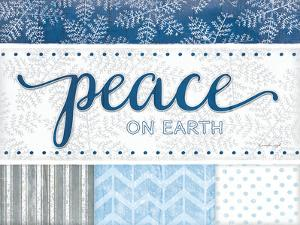 Peace Silver Blue by Jennifer Pugh