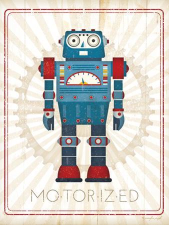 Retro Robot IV by Jennifer Pugh