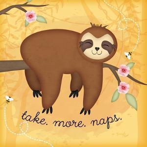 Take More Naps Sloth by Jennifer Pugh
