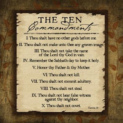 The Ten Commandments by Jennifer Pugh