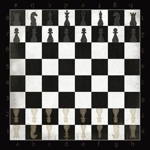 Vintage Chess Board by Jennifer Pugh