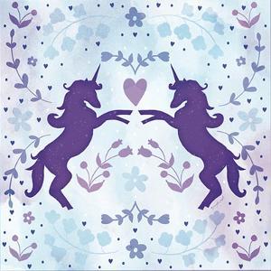Watercolor Unicorn II by Jennifer Pugh