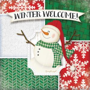 Winter Welcome Snowman by Jennifer Pugh