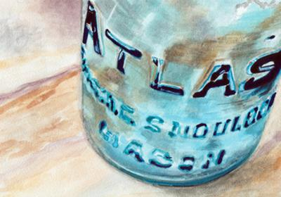 Atlas Jar by Jennifer Redstreake Geary