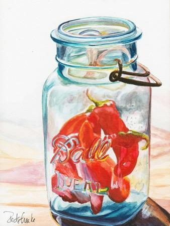 Ball Jar Ideal Peppers by Jennifer Redstreake Geary