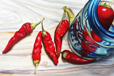 Ball Jar Red Peppers by Jennifer Redstreake Geary