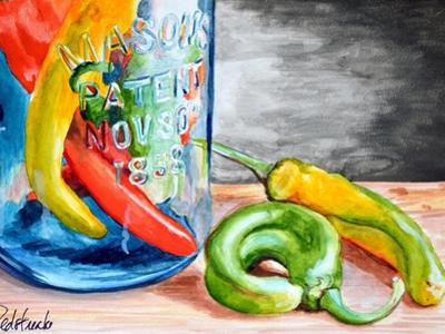 Chili Peppers by Jennifer Redstreake Geary