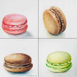 Four Macaroons by Jennifer Redstreake Geary