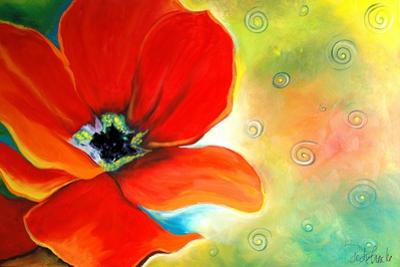 Poppy and Swirls by Jennifer Redstreake Geary