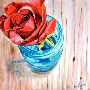 Rose in Jar by Jennifer Redstreake Geary