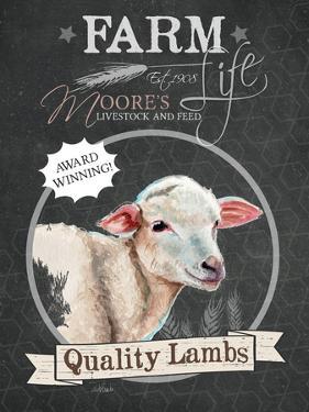 Redstreake Chalkboard Sheep by Jennifer Redstreake